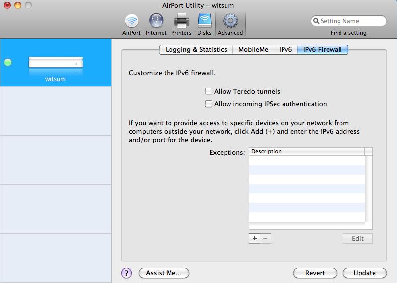 IPv6 Firewall GUI
